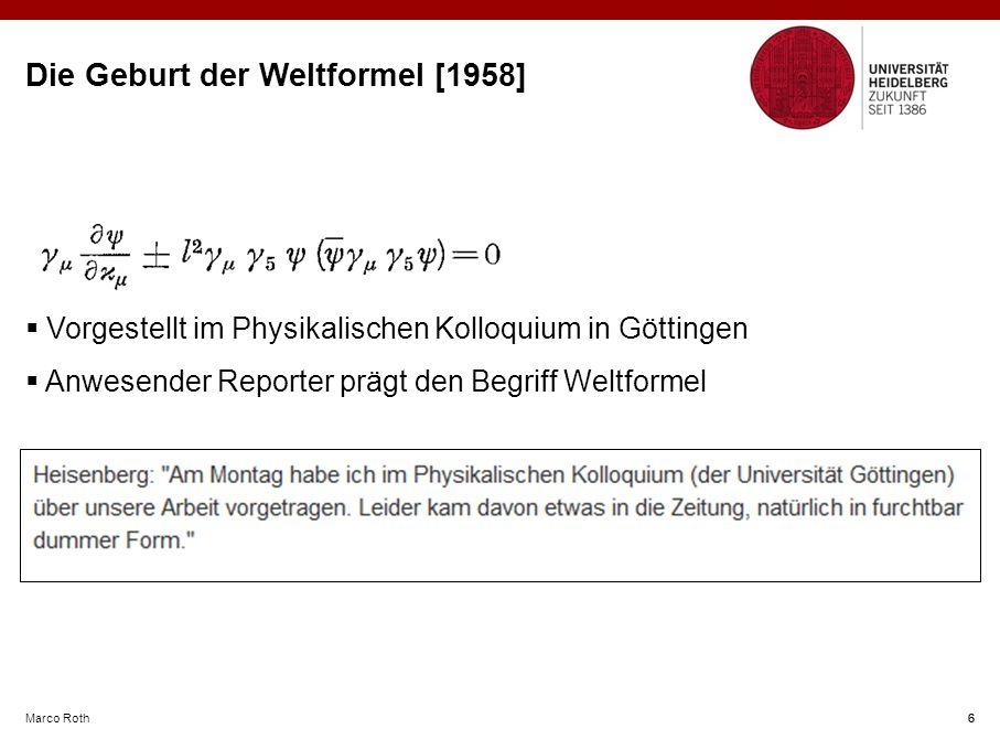 Die Geburt der Weltformel [1958]